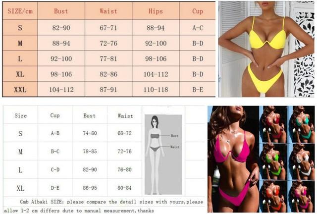 Drop Shipping Sexy Push Up Unpadded Brazilian Bikini Set Women 4 Colors Bandage Bikini Set Swimsuit Triangle Swimwear Bathing 10