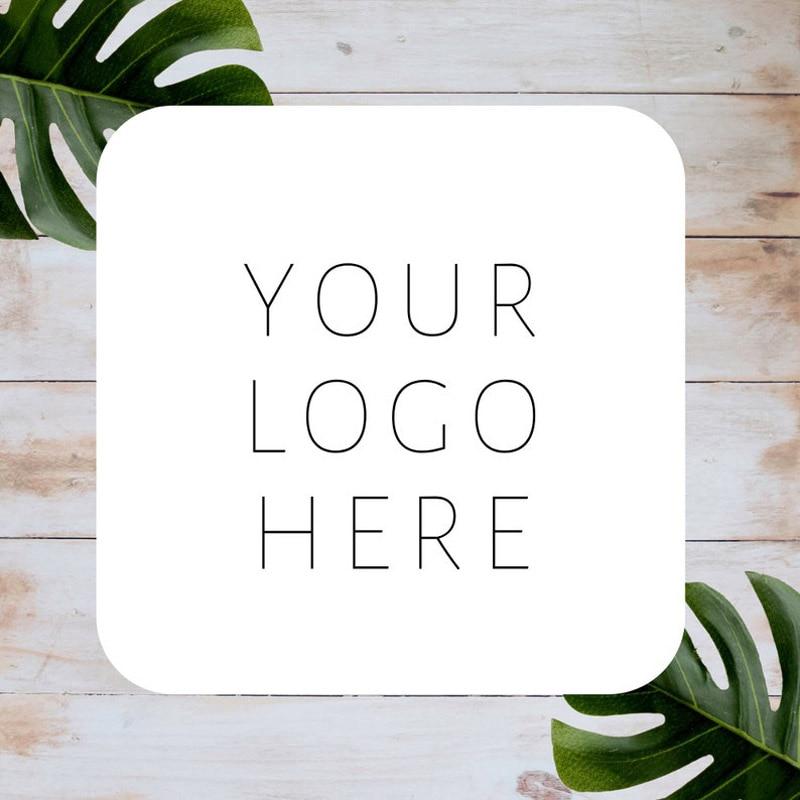 100 шт./лот Индивидуальные персонализированные квадратные наклейки с логотипом бизнеса индивидуальные этикетки для бизнеса почтовые этикет...