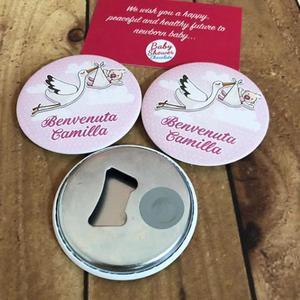 Магнит для детского душа, прямоугольная бутылочка, индивидуальный, магнитный Открыватель для бутылок, подарки для новорожденных, магниты для детского холодильника