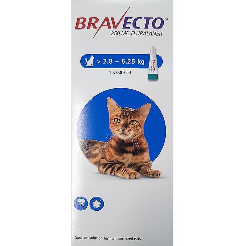 BRAVECTO CAT SPOT ON 1 PIPETA MSD 250 мг 2,8-6,25 кг