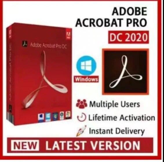 Adobe Acrobat Pro DC-2020-vie-éditeur de lecteur PDF convertisseur de créateur Activation à vie