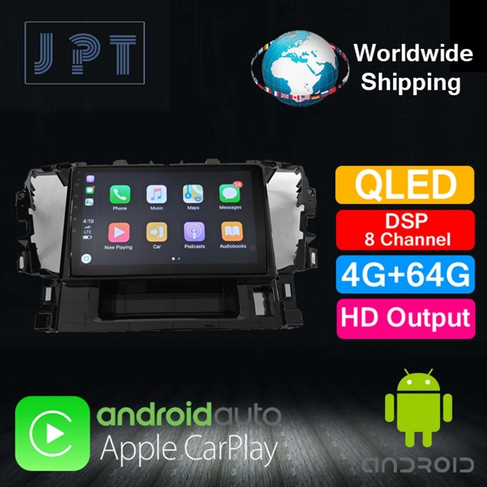 1 din reproductor Multimedia PX6 para TOYOTA Alphard 2015 QLED Carplay DSP8 RDS navegación GPS 4G 64G AUX SWC