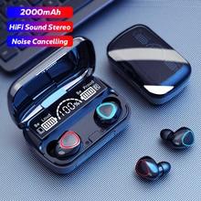 M10 TWS Wireless Earphones Touch Control Bluetooth-Compatible 5.1 Headphones Wireless Headset Waterp