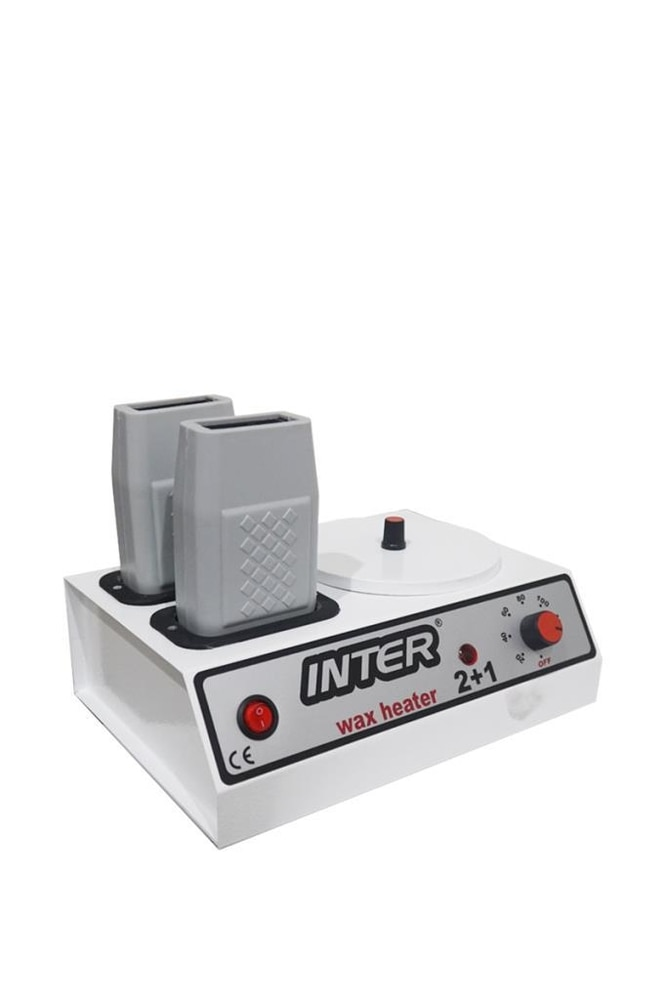 Professional Wax Heater 2+1 Cartridge Wax Heater Wax Warmer Hair Removal Paraffin Heater enlarge