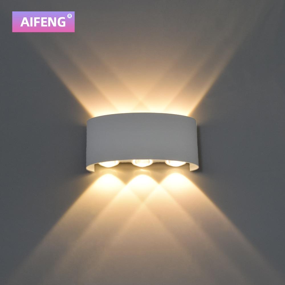 luminaria de parede led de aluminio para areas externas ip65 a prova dagua iluminacao
