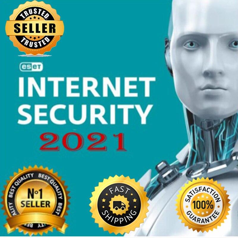 ESET NOD32 أمن الإنترنت 2021 1 سنة1 قطعةتفعيل مفتاح عالميا