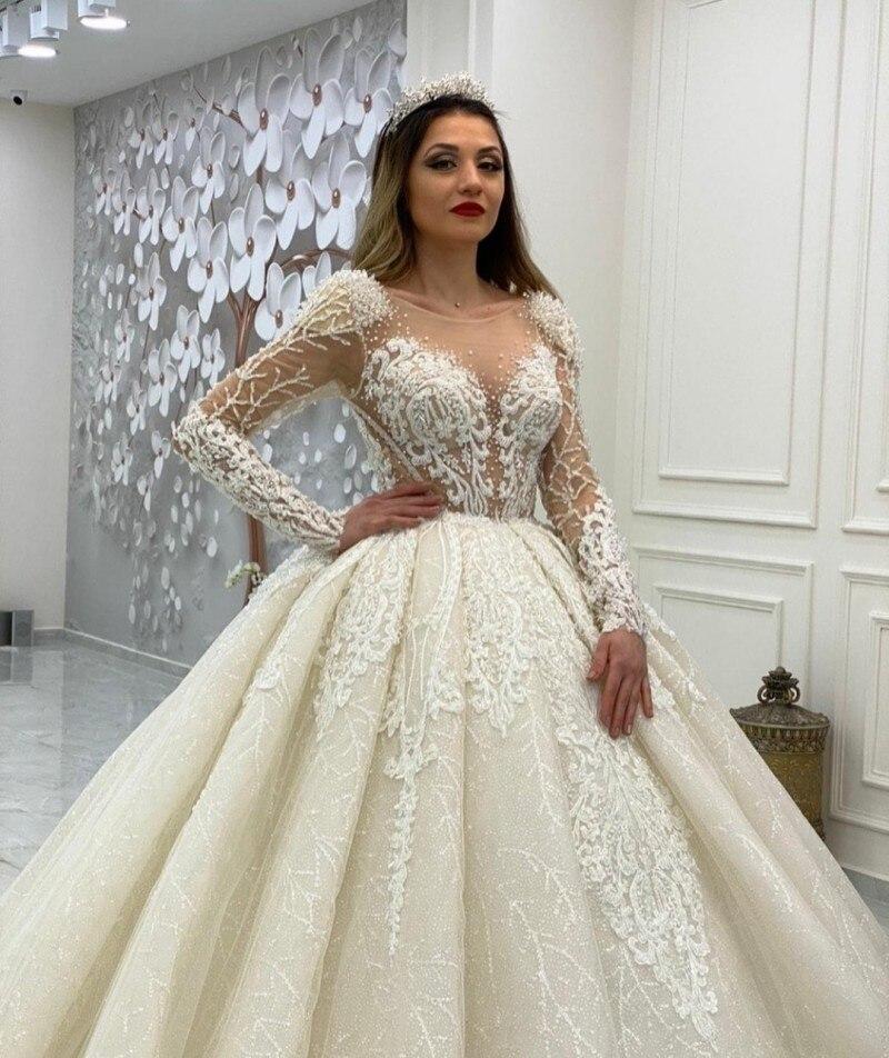 Vestido de novia Vintage de manga larga, apliques de encaje, vestidos de...