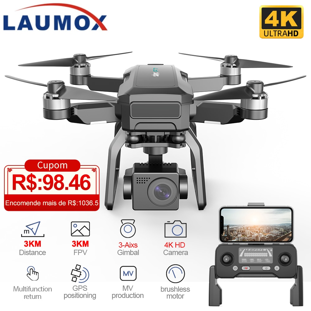 SJRC F7 4K PRO Drone GPS 5G WiFi 3 Axis Gimbal With HD Camera FPV Professional RC Foldable Brushless Quadcopter RC Dron