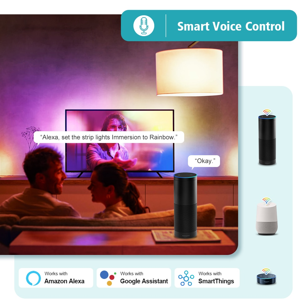Tuya Wifi Smart TV Ambient Light Kit 4K HDMI Sync Led Back Light PC Screen Lighting Voice Control With Alexa Google Assistant enlarge