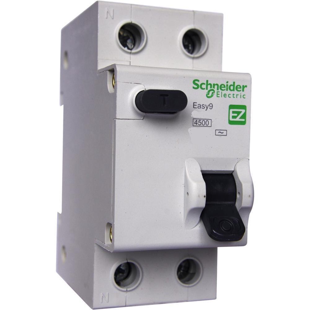 Leaf. automatic schneider elétrico easy9 rcbo 1 p + n 16a 30ma c ac
