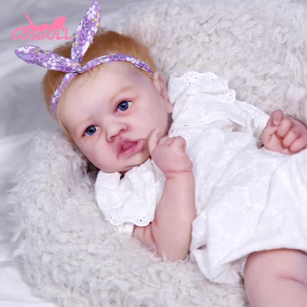 Reborn Baby bonecas reborn 57cm 4.7kg 100% silicone solid Dolls lavabile educazione della prima infanzia giocattolo per bambini regali per bambini #05