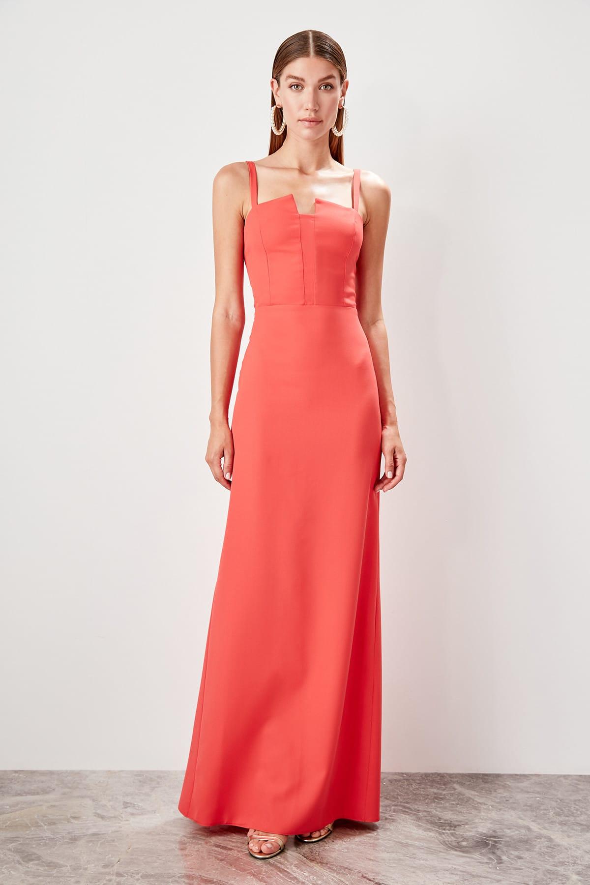 Trendyol Collar Detail Evening Dress Dress TPRSS19AE0005