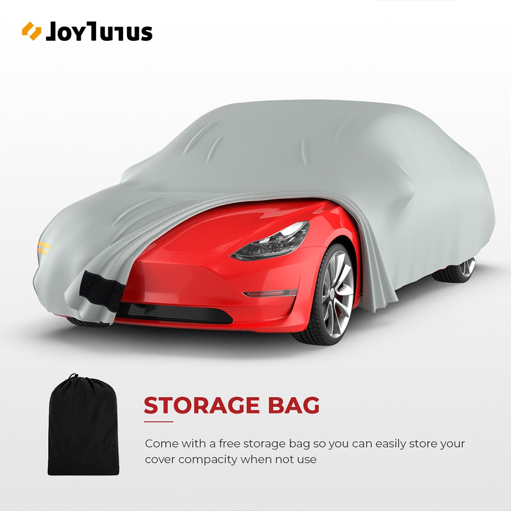 Full Car Cover For Tesla Model 3 All Weather Car Covers With Air Flow Mesh Reflective Strips Outdoor Waterproof Buckle Straps