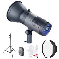 neewer vision 4 battery powered outdoor studio flash strobe full power flashes with 2 4g system with softboxlight stand kit