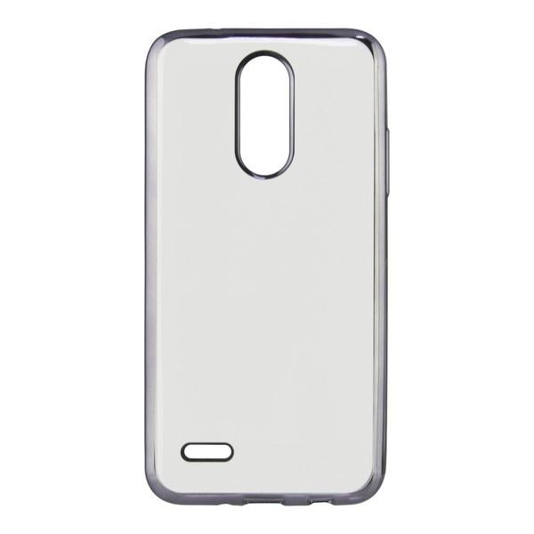 Mobile abdeckung Lg K4 2017 Kontaktieren Flex Metall TPU Transparent Grau Metallic