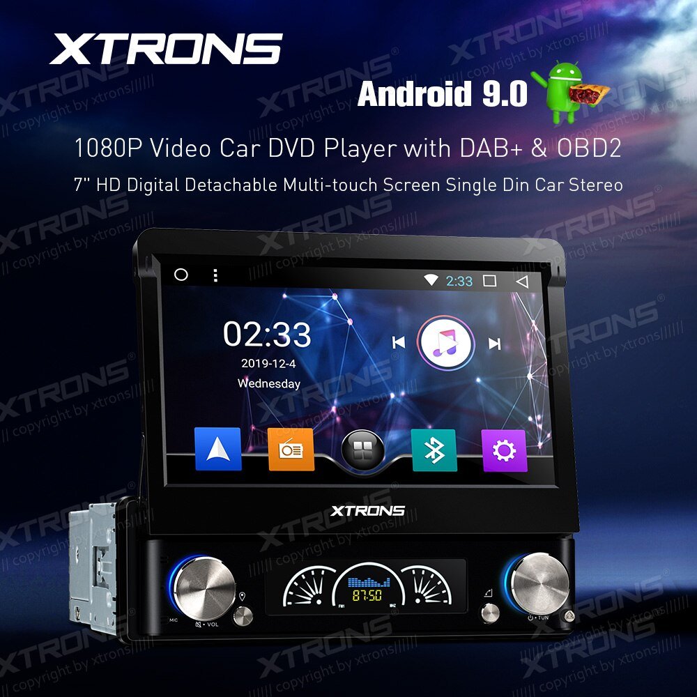 "XTRONS 7 ""Android 9,0 Universal HD Digital desmontable Multi-reproductor de DVD del coche de la pantalla táctil de DAB OBD 1080P din coche ESTÉREO"