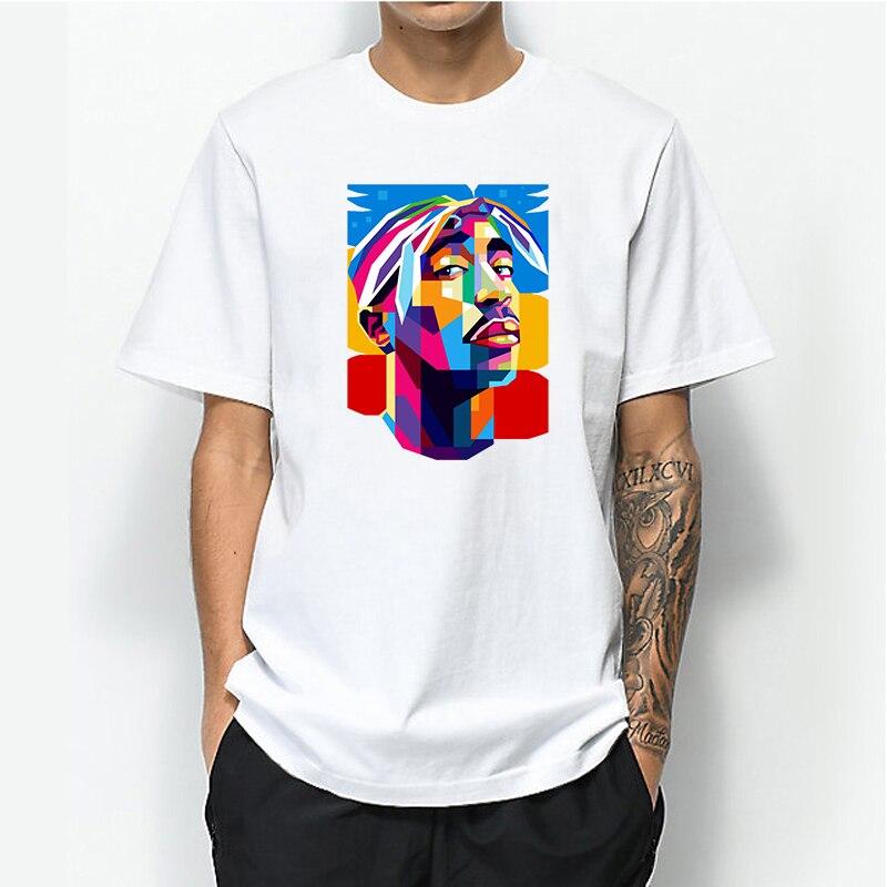 2020 Men Print Tupac 2pac T-shirt Short Sleeve O-Neck 100% Cotton Tshirt Hip Hop Swag Harajuku Streetwear T Shirt Clothing Tops 666 bear satan t shirt for men male fashion short sleeve o neck cotton casual homme hip hop swag t shirt tshirt summer tops tee