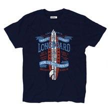 T Shirt T-shirts Surf West Cost California Big Waves Longboard Beach Sea Navy