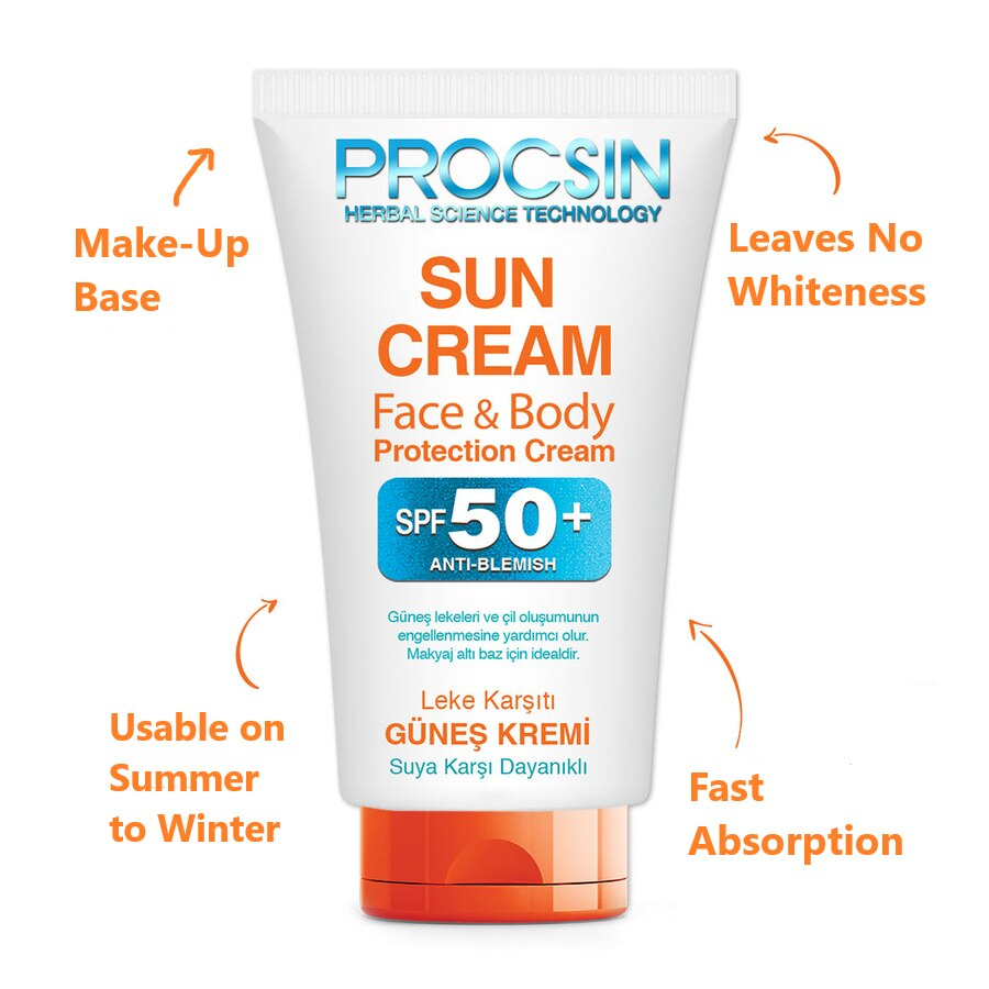 Procsin Face Protection Factor 50+ Sun Cream Whitening Sunblock Skin Protective Cream Anti-Aging Oil-control Moisturizing 50 ml