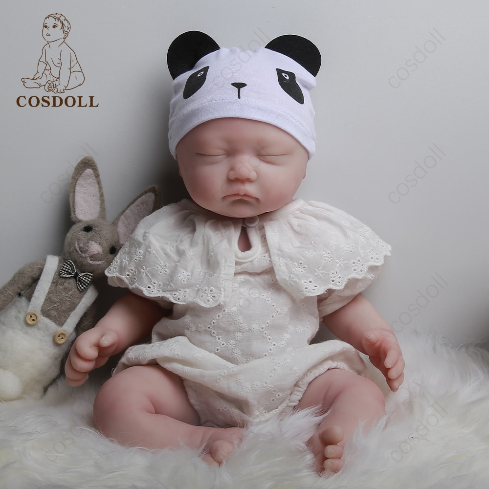 BeBe Reborn DOLL 45CM Realistic Baby Toddler Toy Full Body Silicone Adorable Babies Very Soft  Dolls