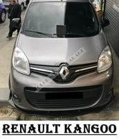 For Renault Kangoo Front Bumper Attachment Lip 1998-2020 Piano Glossy Black Splitter Diffuser Universal Spoiler Bumper