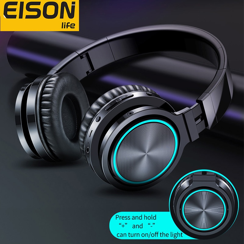 EISON Wireless Headphones Strong Bass Bluetooth Headset Noise Cancelling Bluetooth Earphones Low Delay Earbuds for Gaming