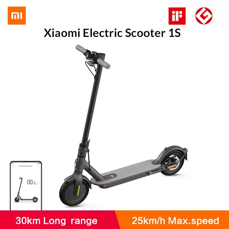 Xiaomi-Patinete eléctrico Mi 1S MIJIA Smart Lite, Mini Scooter plegable para adultos