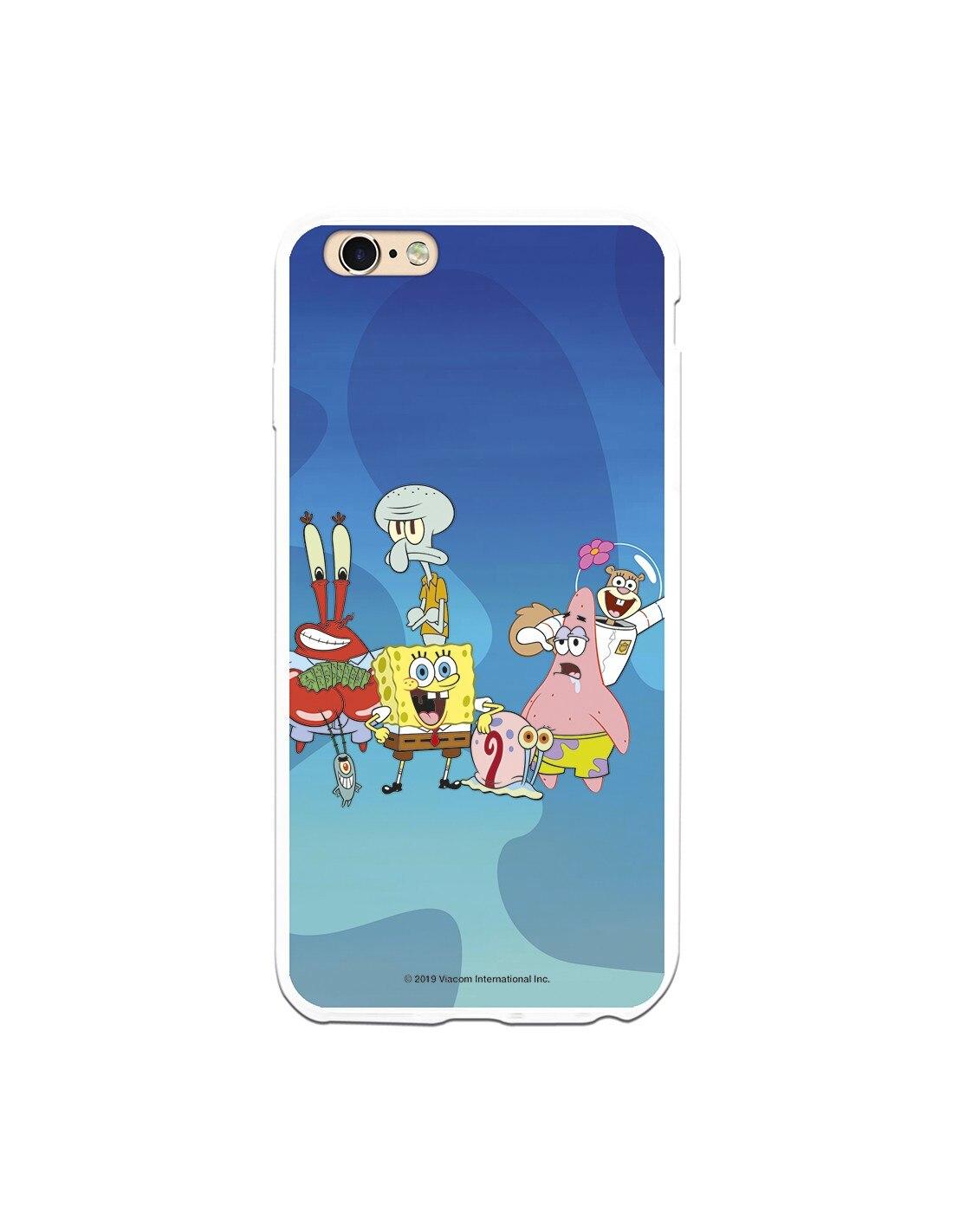 Funda para iPhone 6 Plus Oficial de Nickelodeon Personajes Fondo Marino - Bob Esponja