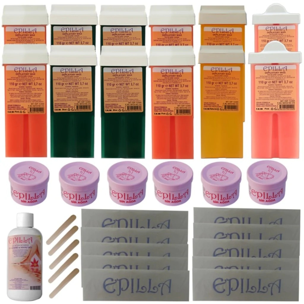 Epilla Busines Roll-On Cartridge and Canned Roll On Wax Cartridge For Hair Removal Hot Depilatory Warmer Heater Waxing