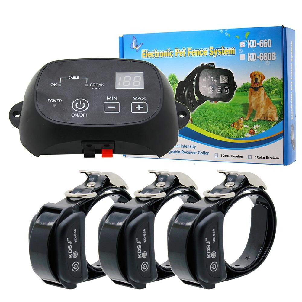 Забор для собак полный статические электрические собаки электрическое ограждение для собак с 3 ошейниками BNF