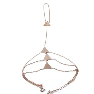 Triangle Simple Sterling Silver Şahmeran Bracelet