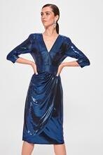 Trendyol Ribbed Wraped-Dress