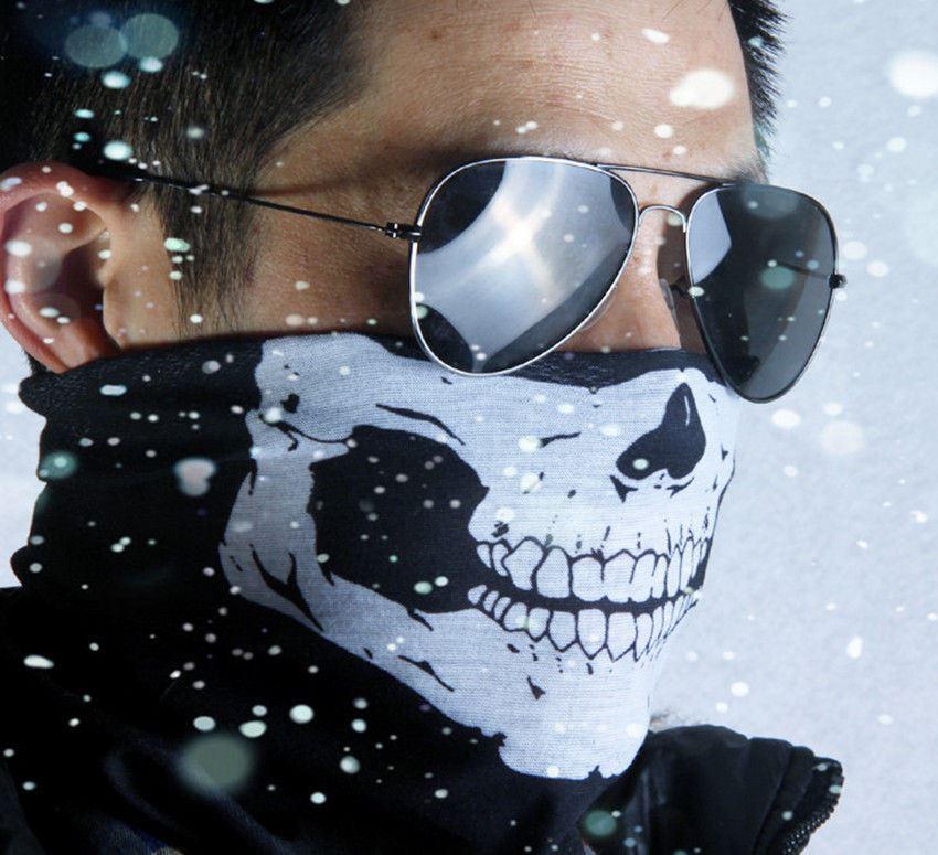 It is sent from Spain Mascara Balaclava braga de Motorbike Helmet neck collar skull mask motorcycle