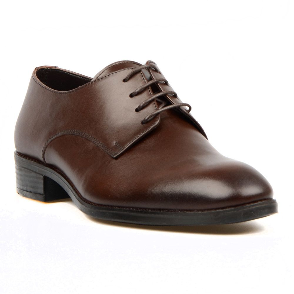 Footcourt-brown sapatos de couro genuíno para homem brown rendas até sapatos sapatos de vestido sapatos formais sapatos de negócios feitos na turquia por etor