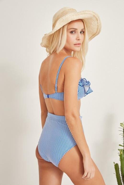 Women's Strapless Ruffle High Waist Bikini Set Women Clothing Women Dress Turkish Clothes for Woman-Spring 2020