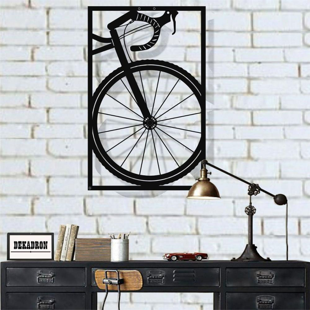 Metall Wand Kunst, Fahrrad Wand Kunst, Metall Bike Kunst, Metall Wand Dekor, Radfahrer Geschenk, biker Kunst, Home Büro Dekoration