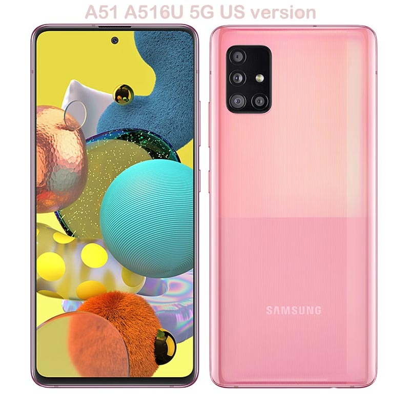 Samsung Galaxy A51 A516U 6.5 inches 6GB RAM 128GB ROM Android Cell Phone Camera 48MP Refurbished 5G Mobile Phone US Version