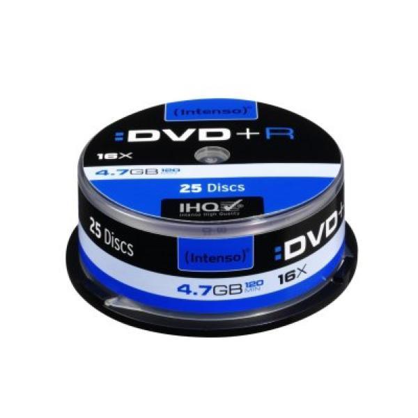 DVD + R INTENSO 4111154 16x4,7 GB 25 uds