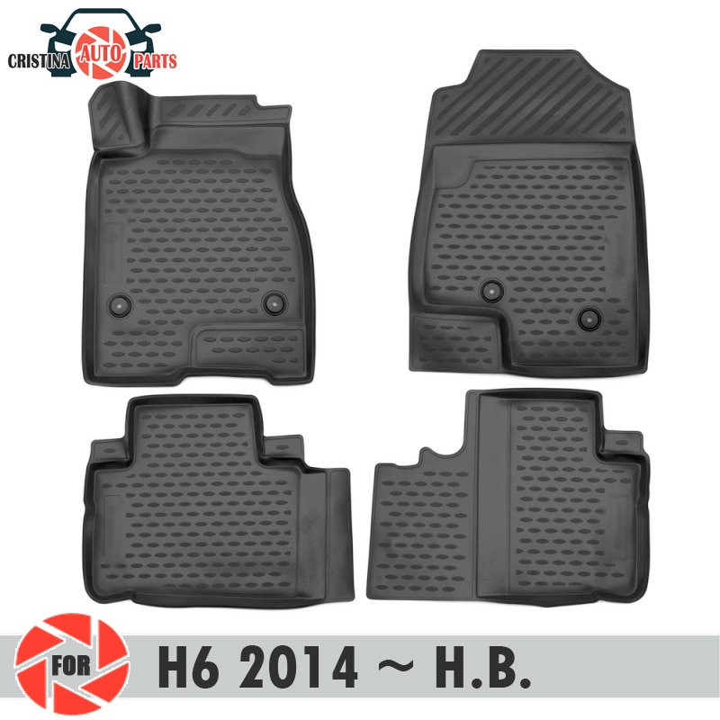 Tapetes para HAVAL H6 2014 ~ 2019 tapetes antiderrapante poliuretano proteção sujeira interior car styling acessórios