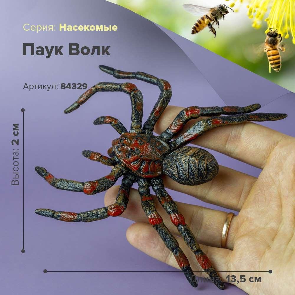 Estatueta animal inseto estatueta aranha, o lobo crianças collectible brinquedo modelo estatueta