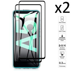 Samsung galaxy a51, conjunto 2 peças de vidro temperado protetor de tela anti-risco ultra fino fácil de instalar