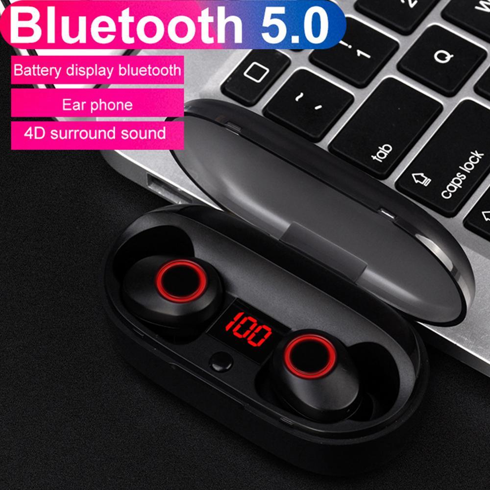 Kphrtek 1 Pza J29 Bluetooth 5,0 TWS pantalla de batería Mini auriculares inalámbricos auriculares gemelos auriculares con funda de batería manos libres