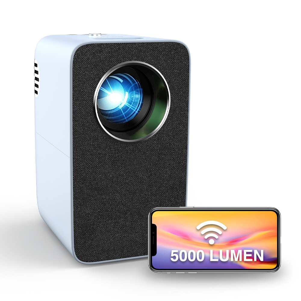 Portable Mini Projector Beamer Home Theater Led Video 4200 Lumens Wireless Airplay A7+W Freeshipping