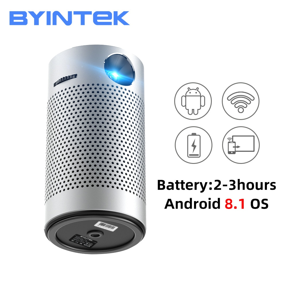 BYINTEK-Mini Cine en vídeo P7, Android 1080p, 4K, LED de bolsillo, Pico...