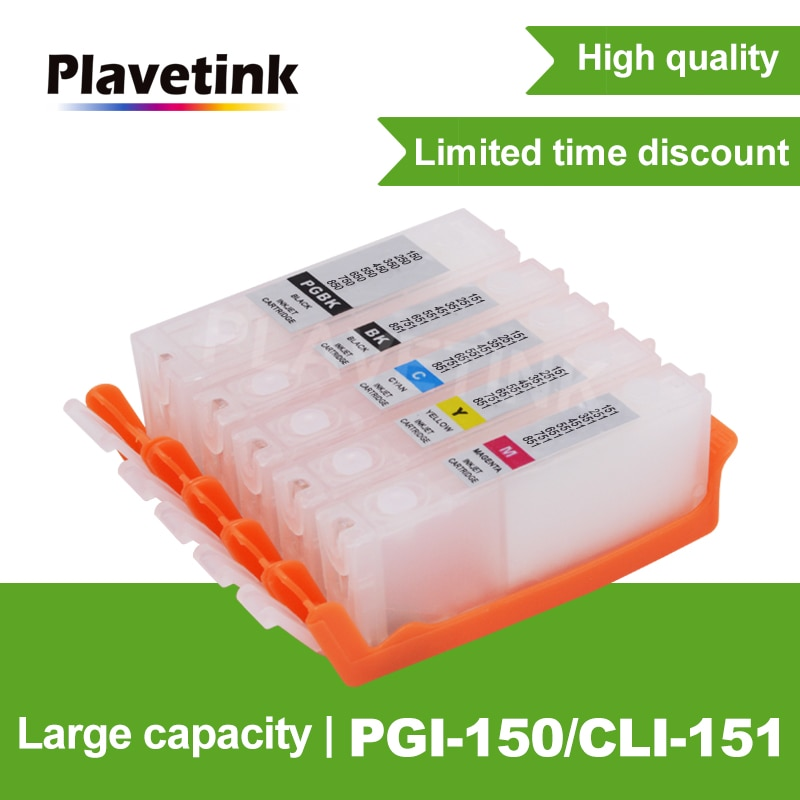 Plavetink PGI-150 CLI-151 XL Cartucho de tinta Para impressora Canon PGI-150 CLI-151 XL Trabalho de Cartuchos de Impressora Para Impressora Canon PIXMA MG5410 MG551