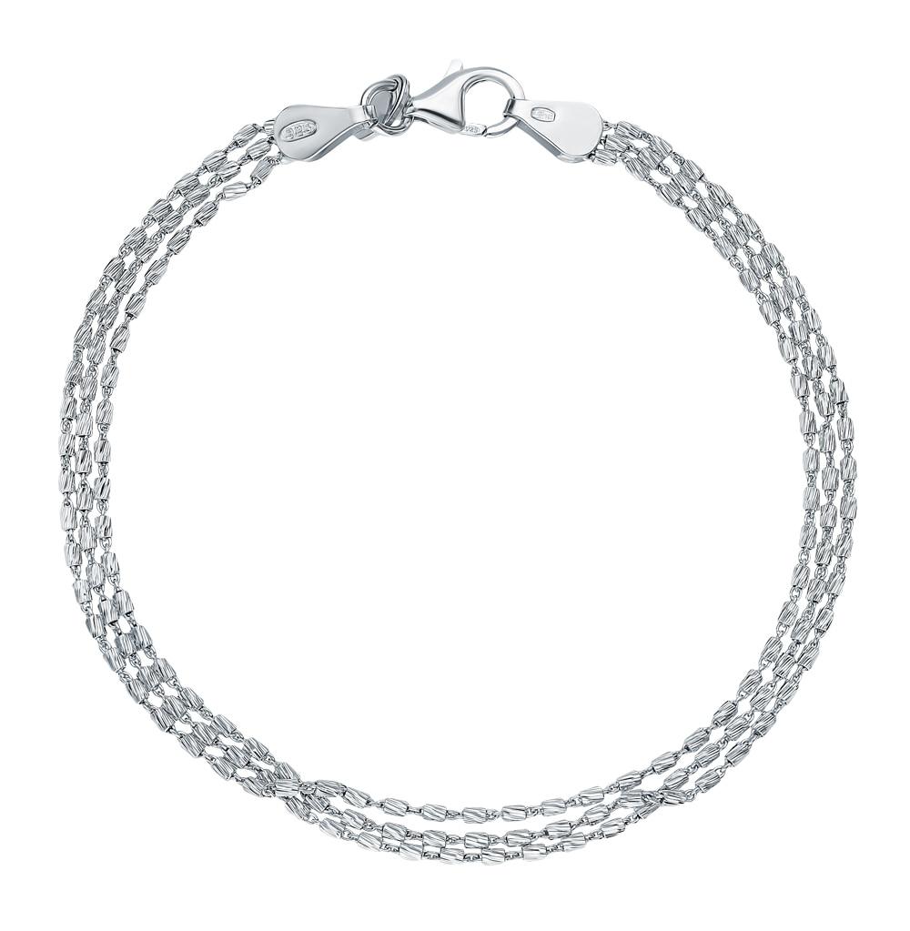Серебряный браслет SUNLIGHT проба 925|Гибкие и жесткие браслеты| |