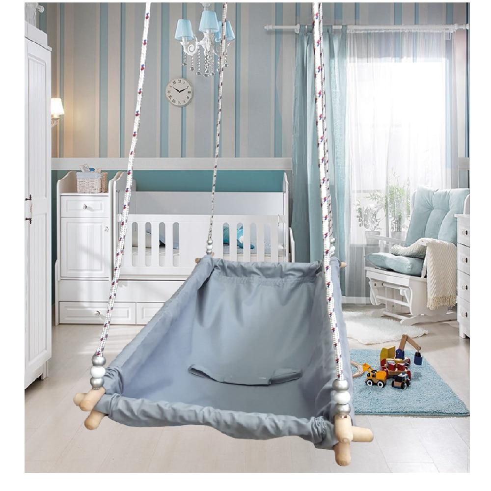 Wooden Baby Cradles Hoppy Hammock Swing Newborn Children Room Furniture Bed Travel Cot Bed Rocking Chair enlarge