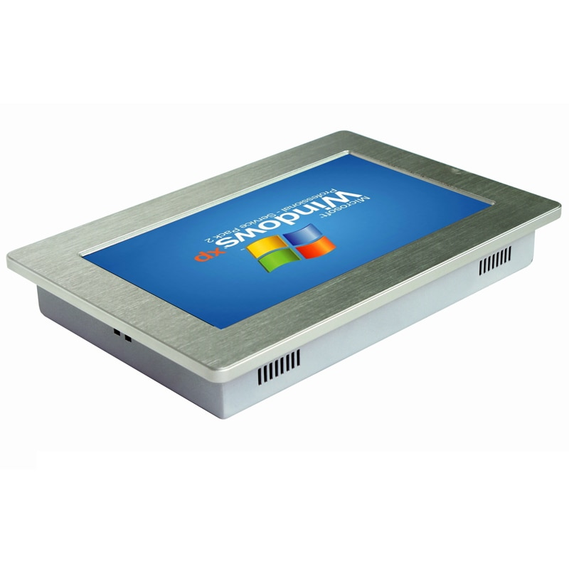 Support wifi 10.1 inch industrial touch screen panel pc with 64G SSD two Lan RJ45 Tablet pc