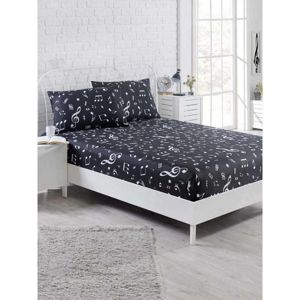 عبوة شرشف مجموعة مزدوجة ميلودي منقوشة (160 سنتيمتر x 200 سنتيمتر) أنا السرير ورقة و المخدة مجموعات أنا السرير غطاء
