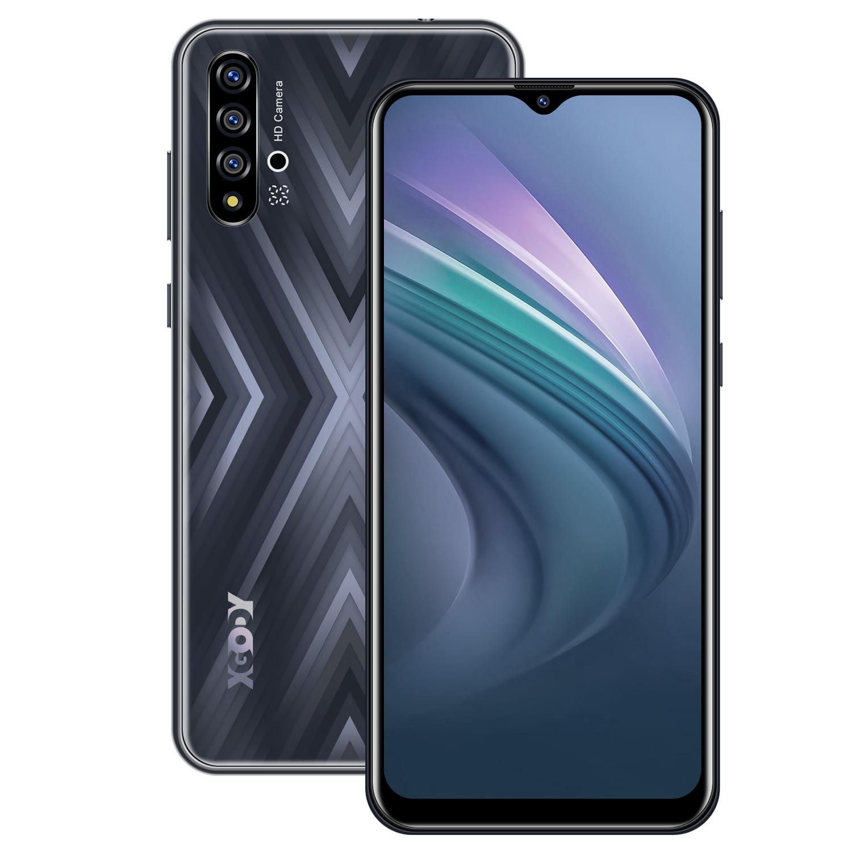 "Xgody x30 smartphone celular android 9.0 6.53 ""waterdrop 2gb 16gb mt6580 quad core 3000mah duplo sim 5mp gps wifi 3g telefone móvel"